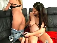 Slut spoils pregnant brunette girl