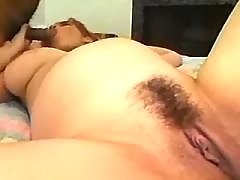 Pregnant beauty fucks and gets cum
